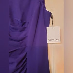 Calvin Klein Dresses - Calvin Klein Sunburst Sheath Royal Purple 4 NWT